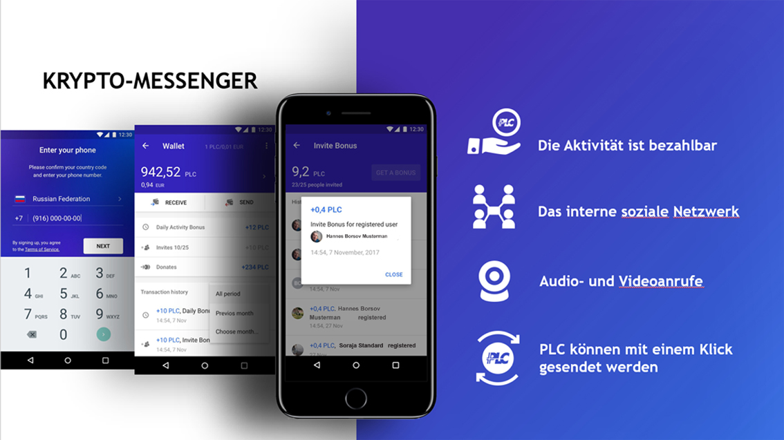 The mobile crypto messenger of the future * Der mobile Krypto-Messenger der Zukunft